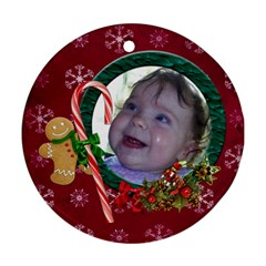 Simplychristmas Vol1   Round Ornament(two Sides)  By Picklestar Scraps   Round Ornament (two Sides)   Tjrk7k5ojegy   Www Artscow Com Front