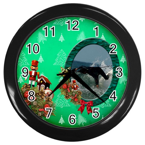 Simplychristmas Vol1   Wall Clock(black)  By Picklestar Scraps   Wall Clock (black)   D0jj34m3oqwl   Www Artscow Com Front