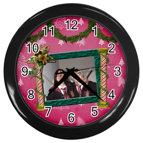 Simplychristmas Vol1   Wall Clock(black)  By Picklestar Scraps   Wall Clock (black)   Lotagr35xrec   Www Artscow Com Front