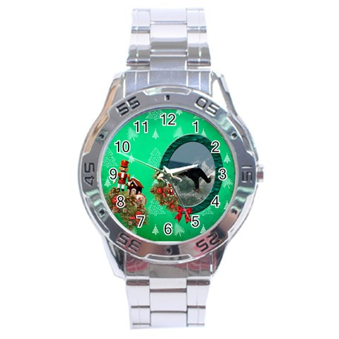 Simplychristmas Vol1   Analogue Men By Picklestar Scraps   Stainless Steel Analogue Watch   3jvevg8fiv4r   Www Artscow Com Front