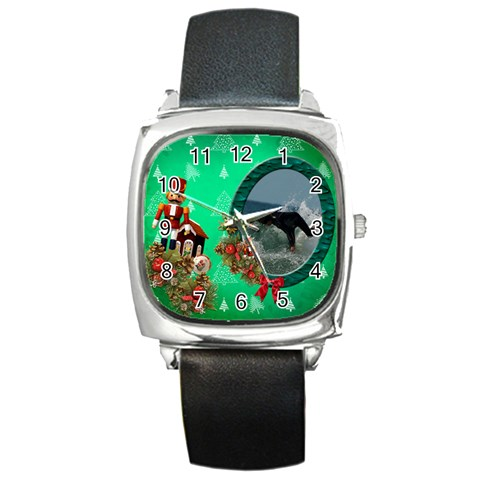 Simplychristmas Vol1   Square Metal Watch  By Picklestar Scraps   Square Metal Watch   Z97mngjwj25b   Www Artscow Com Front