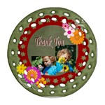 thank you - Round Filigree Ornament (Two Sides)