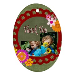 Thank You By Jacob   Oval Ornament (two Sides)   Mpgw68z39ovs   Www Artscow Com Front