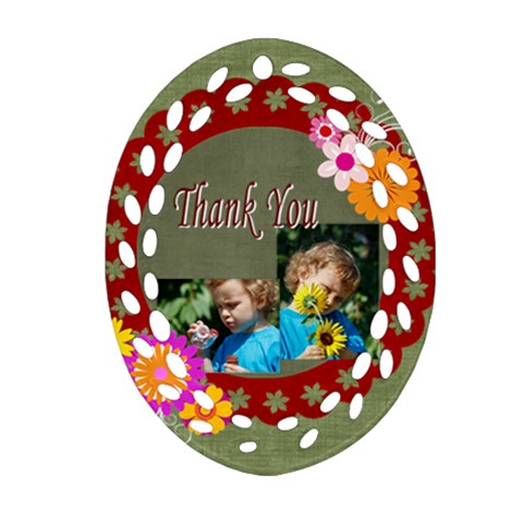 Thank You By Jacob   Ornament (oval Filigree)   B74l6uv1li6u   Www Artscow Com Front