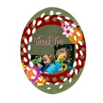 thank you - Oval Filigree Ornament (Two Sides)