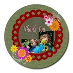 thank you - Collage Round Mousepad