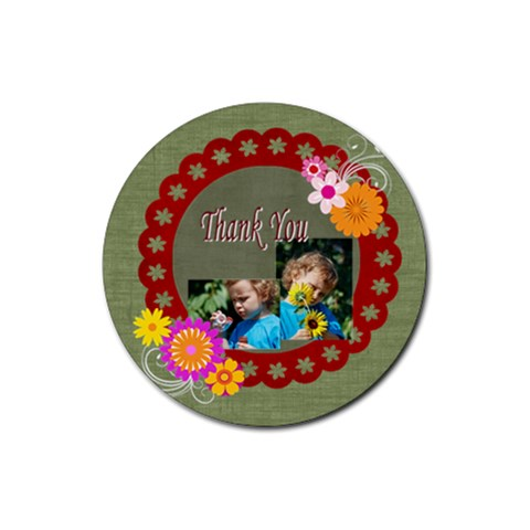 Thank You By Jacob   Rubber Coaster (round)   Vxyiwrvapycw   Www Artscow Com Front