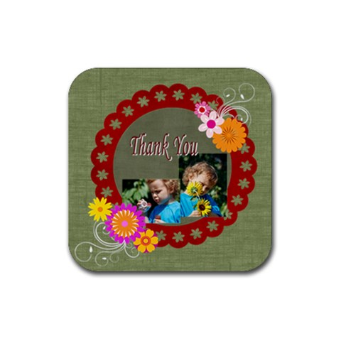 Thank You By Jacob   Rubber Coaster (square)   2eee3gqf646l   Www Artscow Com Front