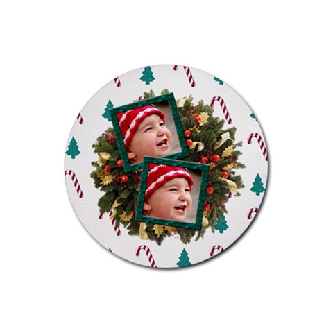 Simplychristmas Vol1   Rubber Round(4pack)  By Picklestar Scraps   Rubber Round Coaster (4 Pack)   Gg2yo5drfsyd   Www Artscow Com Front