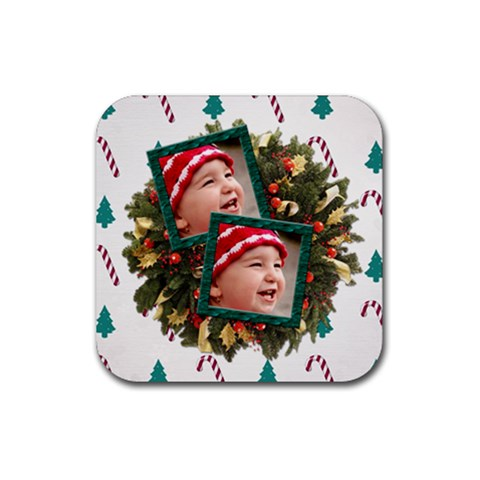 Simplychristmas Vol1   Rubber Coaster(square)  By Picklestar Scraps   Rubber Coaster (square)   M34316rup2lh   Www Artscow Com Front
