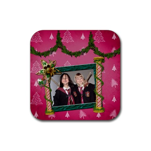 Simplychristmas Vol1   Rubber Square(4pack)  By Picklestar Scraps   Rubber Square Coaster (4 Pack)   6oa73izib6n2   Www Artscow Com Front
