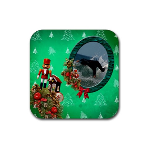 Simplychristmas Vol1   Rubber Square(4pack)  By Picklestar Scraps   Rubber Square Coaster (4 Pack)   Xvjucqxa43lr   Www Artscow Com Front