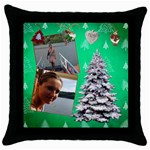 SimplyChristmas Vol1 - Throw Pillow Case  - Throw Pillow Case (Black)