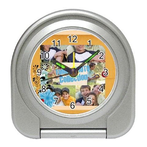 Family By Joely   Travel Alarm Clock   Zqpklp76ra0f   Www Artscow Com Front
