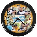 family - Wall Clock (Black)