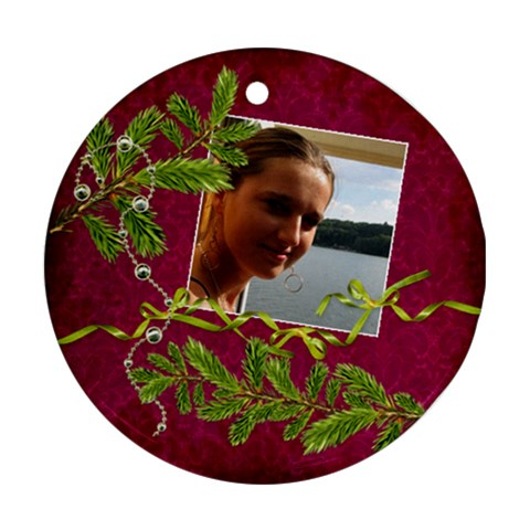 Shabbychristmas Vol1   Ornament(round)  By Picklestar Scraps   Ornament (round)   Vxq73gippizx   Www Artscow Com Front