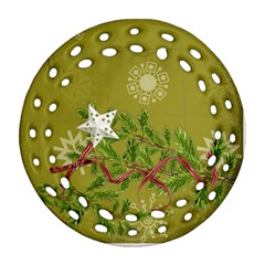 Shabbychristmas Vol1  Round Filigree (2sides)  By Picklestar Scraps   Round Filigree Ornament (two Sides)   5czddach32df   Www Artscow Com Back