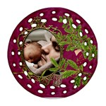 ShabbyChristmas Vol1 -Round Filigree (2sides)  - Round Filigree Ornament (Two Sides)