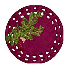 Shabbychristmas Vol1  Round Filigree (2sides)  By Picklestar Scraps   Round Filigree Ornament (two Sides)   B20uak8h5kau   Www Artscow Com Back