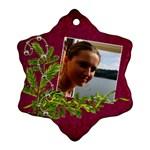 ShabbyChristmas Vol1 - Snowflake Ornament(2sides)  - Snowflake Ornament (Two Sides)