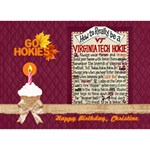 3D Birthday Cake Card_Hokie Pride_Final - Birthday Cake 3D Greeting Card (7x5)