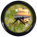 ShabbyChristmas Vol1 - Wall Clock(Black)  - Wall Clock (Black)