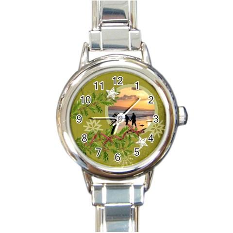 Shabbychristmas Vol1   Round Italian Watch  By Picklestar Scraps   Round Italian Charm Watch   Vd5rjhbh3q4x   Www Artscow Com Front
