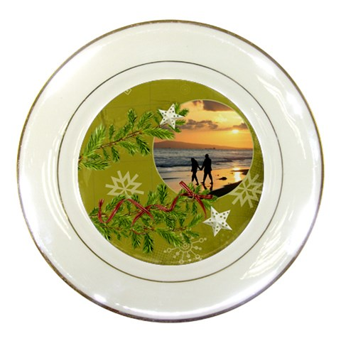 Shabbychristmas Vol1   Porcelain Plate  By Picklestar Scraps   Porcelain Plate   971rfqkqle0l   Www Artscow Com Front