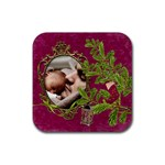 ShabbyChristmas Vol1 - Rubber Coaster(Square)  - Rubber Coaster (Square)