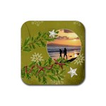 ShabbyChristmas Vol1 - Rubber Square(4pack)  - Rubber Square Coaster (4 pack)