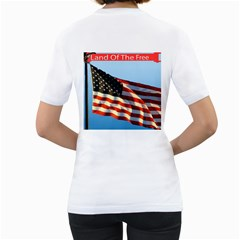 Land Of The Free T Shirt By Kim Blair   Women s T Shirt (white) (two Sided)   Eyoh2aubya5e   Www Artscow Com Back