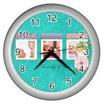kids - Wall Clock (Silver)
