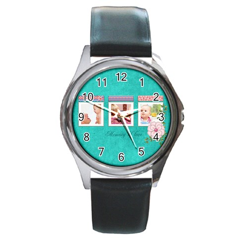 Baby By Joely   Round Metal Watch   2b9vl32f4an8   Www Artscow Com Front