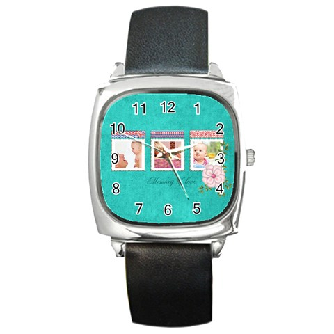 Baby By Joely   Square Metal Watch   Zun7c2w1tgi3   Www Artscow Com Front