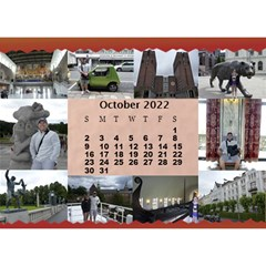 Our Travels Desktop 8 5x6  Calendar By Deborah   Desktop Calendar 8 5  X 6    881clnqpm53v   Www Artscow Com Oct 2017