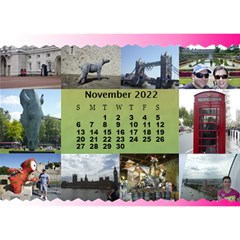 Our Travels Desktop 8 5x6  Calendar By Deborah   Desktop Calendar 8 5  X 6    881clnqpm53v   Www Artscow Com Nov 2017
