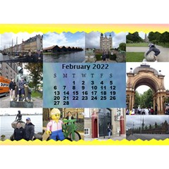 Our Travels Desktop 8 5x6  Calendar By Deborah   Desktop Calendar 8 5  X 6    881clnqpm53v   Www Artscow Com Feb 2017