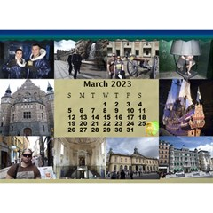 Our Travels Desktop 8 5x6  Calendar By Deborah   Desktop Calendar 8 5  X 6    881clnqpm53v   Www Artscow Com Mar 2017