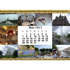 Our Travels Desktop 8 5x6  Calendar By Deborah   Desktop Calendar 8 5  X 6    881clnqpm53v   Www Artscow Com May 2017