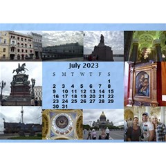 Our Travels Desktop 8 5x6  Calendar By Deborah   Desktop Calendar 8 5  X 6    881clnqpm53v   Www Artscow Com Jul 2017