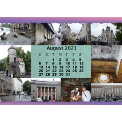 Our Travels Desktop 8 5x6  Calendar By Deborah   Desktop Calendar 8 5  X 6    881clnqpm53v   Www Artscow Com Aug 2017
