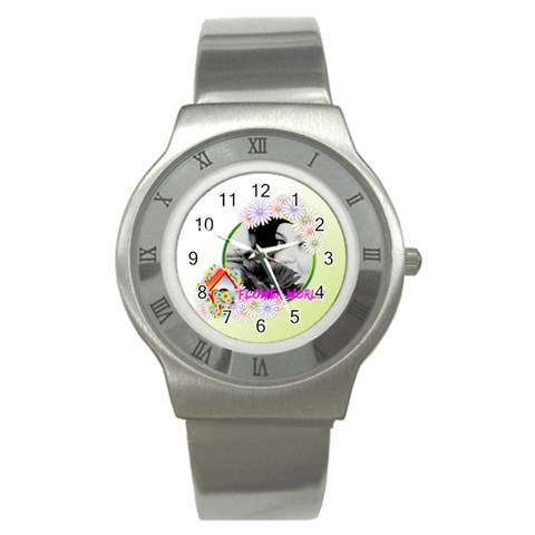 Flower By May   Stainless Steel Watch   4o3f6064jksi   Www Artscow Com Front