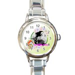 flower - Round Italian Charm Watch