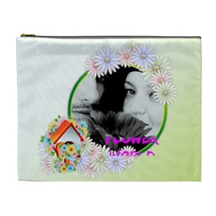 Flower By May   Cosmetic Bag (xl)   Kmz9230i7b8c   Www Artscow Com Front