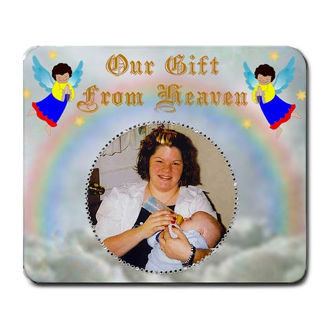 Our Gift Mouse Pad By Suzie   Collage Mousepad   Xoco48li1abp   Www Artscow Com 9.25 x7.75 Mousepad - 1