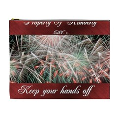 Fireworks On Black Cosmetic Bag (xl) By Kim Blair   Cosmetic Bag (xl)   E0zpgiu7f55v   Www Artscow Com Front
