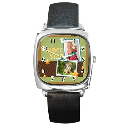 Super Star By Mac Book   Square Metal Watch   Rfnwm91hzd40   Www Artscow Com Front