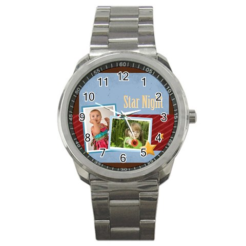 Star Night By Mac Book   Sport Metal Watch   Yw68n4h3e7rv   Www Artscow Com Front