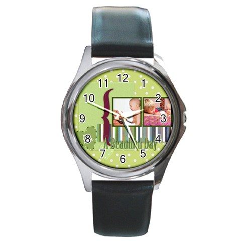 Kids By Joely   Round Metal Watch   N9v56vnalvn5   Www Artscow Com Front