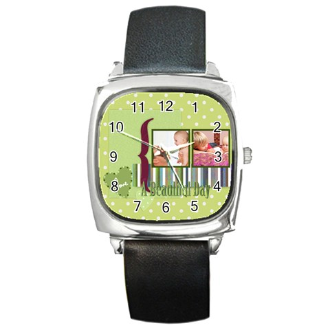 Kids By Joely   Square Metal Watch   P4siohzn8i9a   Www Artscow Com Front